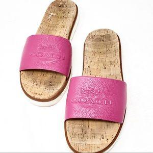 Coach   Women's Spruce Pebble Grain Sandals